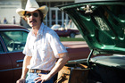 Matthew McConaughey plays homophobic, hard-partying Ron Woodroof in Dallas Buyers Club.