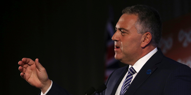 Australia's Treasurer Joe Hockey. Photo / AP