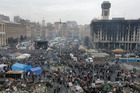 General view of Kiev's Independence Square, the epicenter of the country's recent unrest, Ukraine. Photo / AP