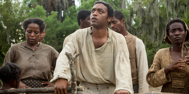 Chiwetel Ejiofor, center, in 12 years a Slave. Photo / AP