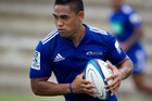 Francis Saili at the Blues training. Photo / Richard Robinson