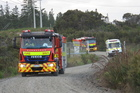 Fire appliances from around Northland rushed to Ngawha. Photo / Peter de Graaf