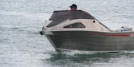 This aluminium Scorpion boat was stolen from a Wellington's Bay batch. Photo/Supplied