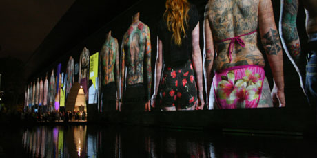 Tattooed City at White Night Festival, Melbourne. Photo / Rachel Bache