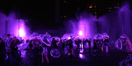 Purple Rain at White Night Festival, Melbourne. Photo / Rachel Bache