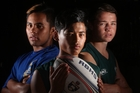 Rotorua Boys' High School touch players Nerehana Tarei, 16 (left), Chylo Flavell, 15, and Kaleb Trask, 15, have been selected for New Zealand age group sides. Photo / Ben Fraser