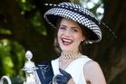 Olivia Moor shows off her winning style at Ellerslie. Photo / Richard Robinson
