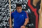 Mils Muliaina damaged the elbow he had surgery on in Japan. Photo / APN