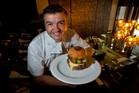 Sean Connolly from The Grill, with his Wagyu beef burger. Photo / Brett Phibbs