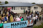 Well-wishers at the official start of the new-look Rest Home on Ruihi St.  Photo/Stephen Parker