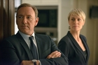 The success of web-based firm Netflix has enabled it to commission its own content such as <i>House of Cards</i>, starring Kevin Spacey, left, and Robin Wright. Photo / AP