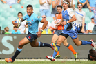 Israel Folau crossed over three times in the Waratahs' win over the Force. Photo / Getty Images