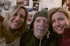 Laurie Kilmartin, left, with her father. Photo / Twitter