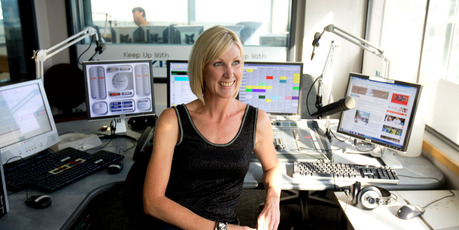 Radio host Rachel Smalley at the Newstalk ZB studio in Auckland City. Photo / APN
