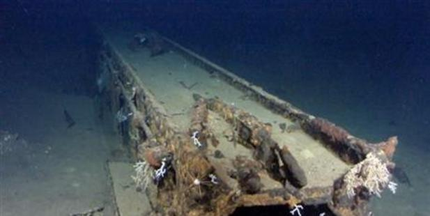 Allen's team believe this is a catapult system from a massive Japanese World War II battleship off the coast of the Philippines. Photo / AP