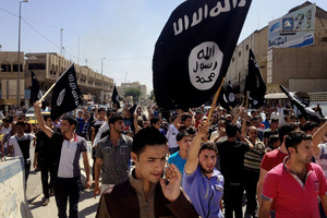 Islamic State supporters in Mosul, Iraq. Photo / AP