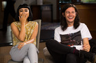 Natalia Kills and Benny Tipene at the X Factor retreat.