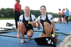 Fiona Bourke (right), pictured with fellow double sculls world champion Zoe Stevenson, has taken the single sculls spot.
