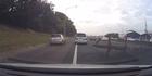 Dash-cam: Steel debris blocks Motorway after bridge collision