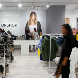 Sneak peek inside Auckland's Topshop Shoppers in Topshop on Queen Street. Photo / Chris Gorman