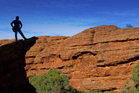 Standing on the top of Kings Canyon in the Northern Territory's Watarrka National Park, one of thousands of photo opportunities in Central Australia. Photo / Getty Images