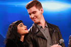 Willy Moon with fellow X Factor judge Natalia Kills. TV3 has apologised for Moon's abusive behaviour. Photo / Norrie Montgomery
