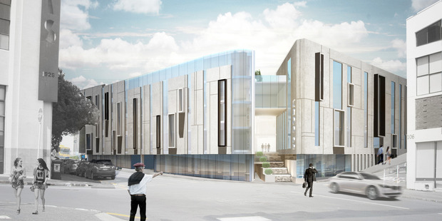 New building planned for 96 Saint Georges Bay Road, Parnell by Mansons TCLM. Artists impression.
