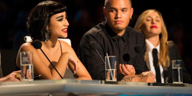 X-Factor New Zealand TV3 Judges Natalia Kills, Stan Walker and Melanie Blatt. Photo / supplied