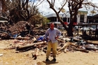 DEVASTATION: Former Whangarei man Peter Gearing, pictured in Port Vila, survived Tropical Cyclone Pam. PHOTO/SUPPLIED