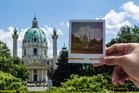 Snapping the sights during a PolaWalk in Vienna, Austria. Photo / Supplied