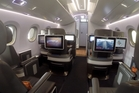 Brazilian company Embraer has been showing off  a mock interior of its new E2 aircraft in Sydney. Photo / Grant Bradley