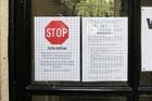 Notice outside University Hall. Photo / Doug Sherring