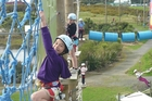 The ropes course at Rocket Ropes is one of many activities available in Auckland Airport's The District.