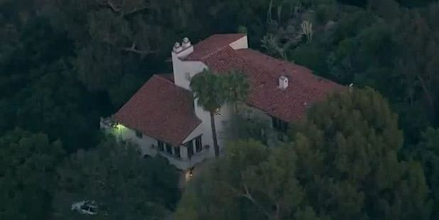 Home of oil heir Andrew Getty in the Hollywood Hills. Photo / AP / Screengrab