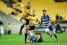 James Broadhurst makes a break during the match between the Hurricanes and the Stormers at Westpac Stadium Stadium. Photo / Getty Images