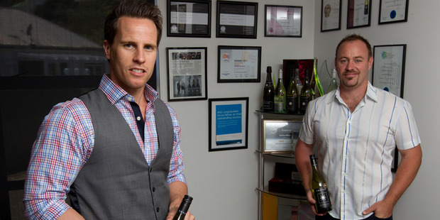Invivo Wines co-founders Tim Lightbourne and Rob Cameron are delighted with the $2 million crowdfunding effort.  Photo / Steven McNicholl