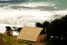 The view from Castaways' glamping spot is so spectacular you'll want to sleep with the doors open. Photo / Supplied