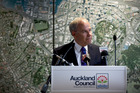 Auckland City Mayor Len Brown during a press conference about the Auckland Council 2015 budget. Photo / Dean Purcell, New Zealand Herald