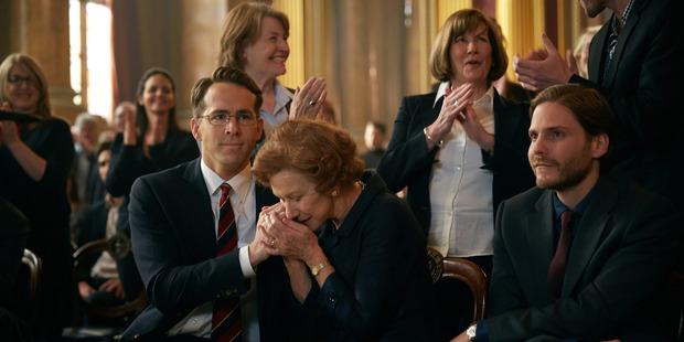 Ryan Reynolds, Helen Mirren, and Daniel Bruhl, in a scene from the film, Woman in Gold. Photo / AP