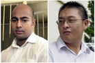 Australian drug traffickers Myuran Sukumaran, left, and Andrew Chan during their trial in Bali, Indonesia. Photo / AP