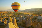 Hot air balloon is a great way to experience Cappadocia's rocky landscape. Photo / Thinkstock