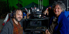 Peter Jackson with Andrew Leslie on the set together.