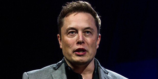 Tesla CEO Elon Musk unveiling the company's Powerwall and Powerpack in California last Thursday. Photo: AP.