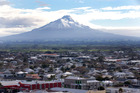 No matter where you are in Hawera you're able to see Mt Taranaki. Photo / NZME.