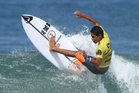 Kehu Butler came third in the world at the Rip Curl GromSearch in Brazil. Photo / Supplied, Ripcurl
