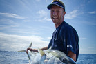 ITM Fishing Show host Matt Watson with a Kingfish. Photo / Supplied
