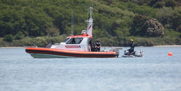 Loading The scene of the crash on Lake Taupo. Photo / Ben Fraser