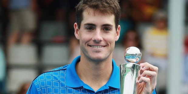 John Isner is apparently too tired to defend his Heineken Cup title. Photo / Getty Images