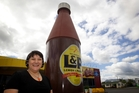 Linda Harding, who owns the L&P cafe, believes no one actually knows who came up with the idea for Lemon & Paeroa, which is now more than 100 years old. Photo / Christine Cornege