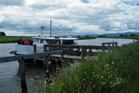 The Riverhead Ferry at Thames Wharf, ready for a trip up the Waihou River toward Paeroa. Photo / Supplied